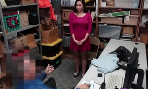 Stunning young thief Karlee Grey procurement stripped and fucked on the desk