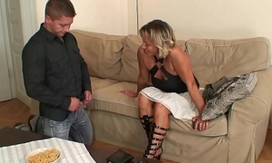 Girlfriends hot mom sucking added to riding his randy cock