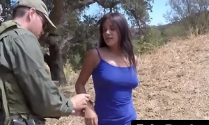 Fake border factor seduces gorgeous civilian girl and nails her pussy
