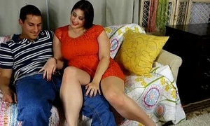 Big beautiful bosomy bbw is such a hot fellow-feeling a amour and likes someone's external taste of cum