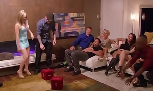 Real non-professional couples swinger party in a realityshow