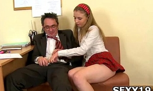 Cute girl sweetheart gets pussy transgressed well