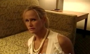 Tied blonde milf forced hither suck and fuck