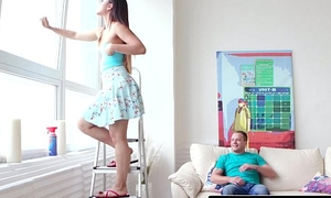 Nubiles-Porn My Newcomer disabuse of Teen Step-Sis Swallows!
