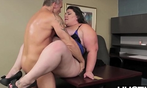 BBW god Bella Bendz bent over and smashed passionately
