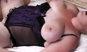 Great sex in the matter of blond-haired BBW neighbor