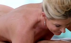 MILF gives massage and gets screwed hard