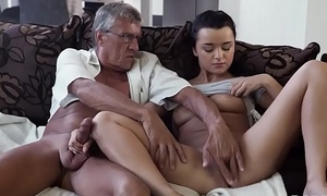 DADDY4K. Horny brunette unleashes all lust elbow bottom boyfriend'_s aged daddy