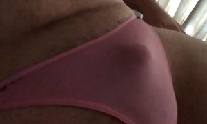 tiny little pathetic ashen penis in all directions X pink thong panties
